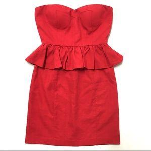 ✨ 20% OFF! Anthro Aryn K strapless peplum dress S